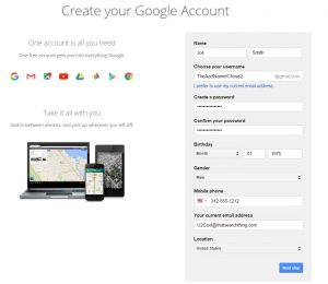 create-google-account-step