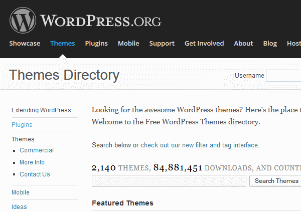 wp themes directory1 Build a Website: How to Make a WordPress Website